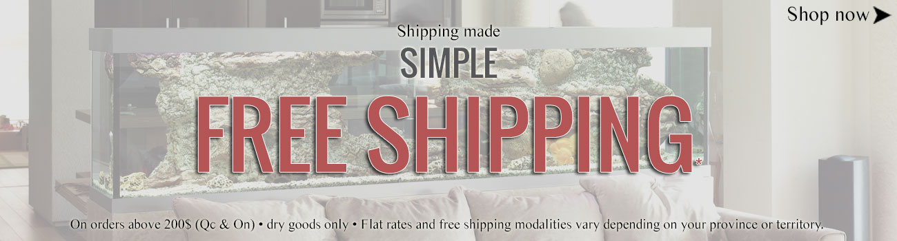 Flat rate and free shipping